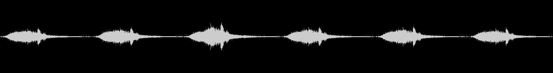 歯科用機械のエアサックイン、アウトループの未再生の波形