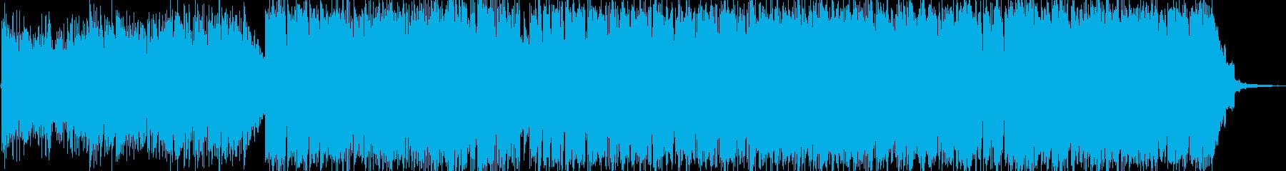 アコースティックギターのゆったりBGMの再生済みの波形