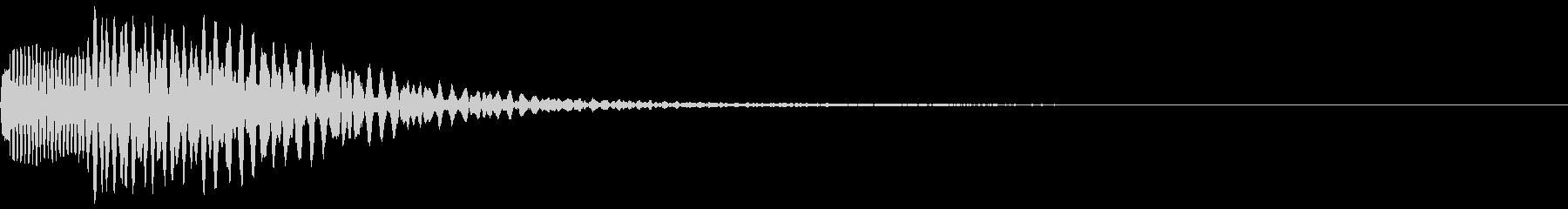 ポロロ(マイナスイメージ)の未再生の波形