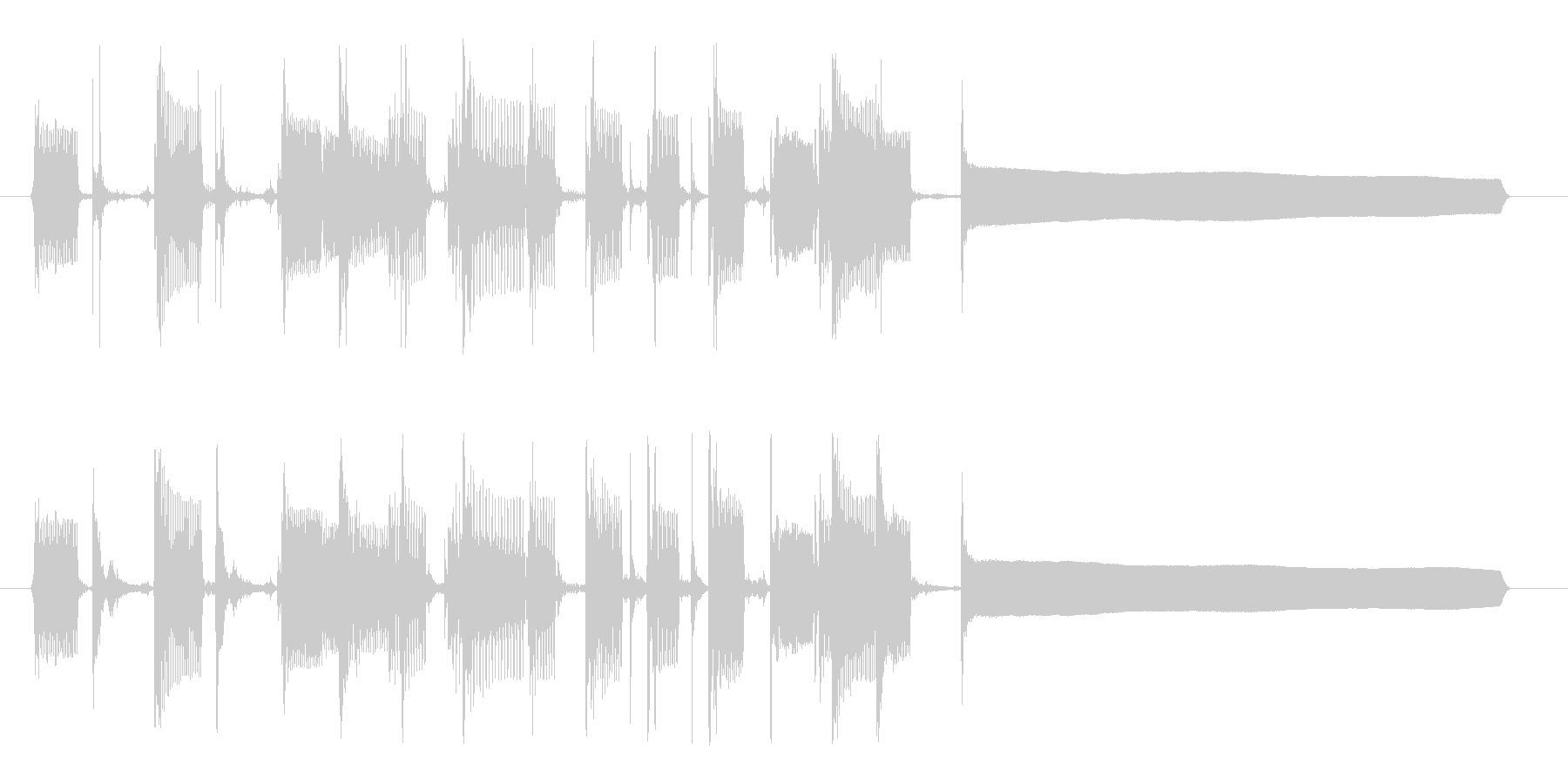クール&セクシーなベースのサウンドロゴの未再生の波形