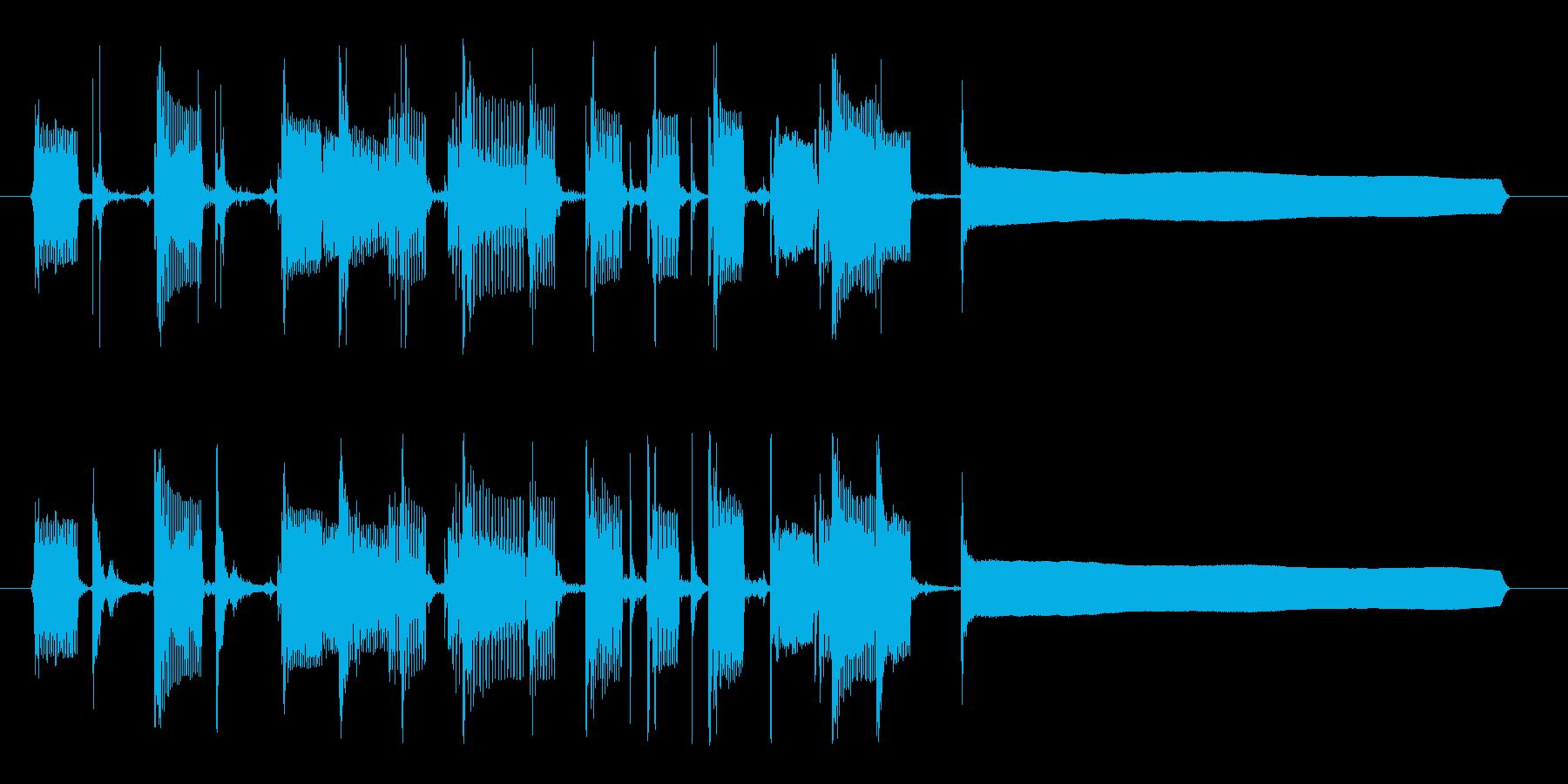 クール&セクシーなベースのサウンドロゴの再生済みの波形