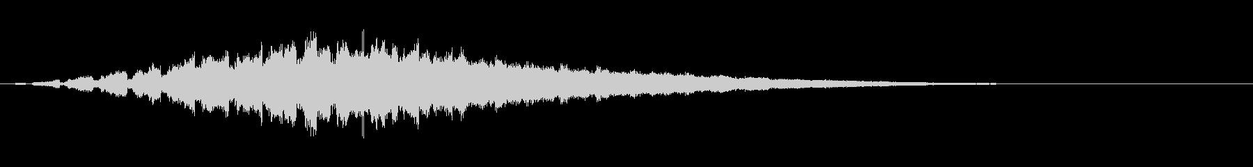 長いキラキラ音 フェードイン・アウトの未再生の波形