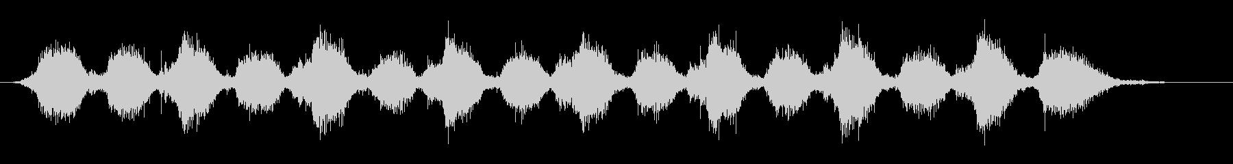 ゴシゴシ(お風呂掃除デッキブラシの音)Aの未再生の波形