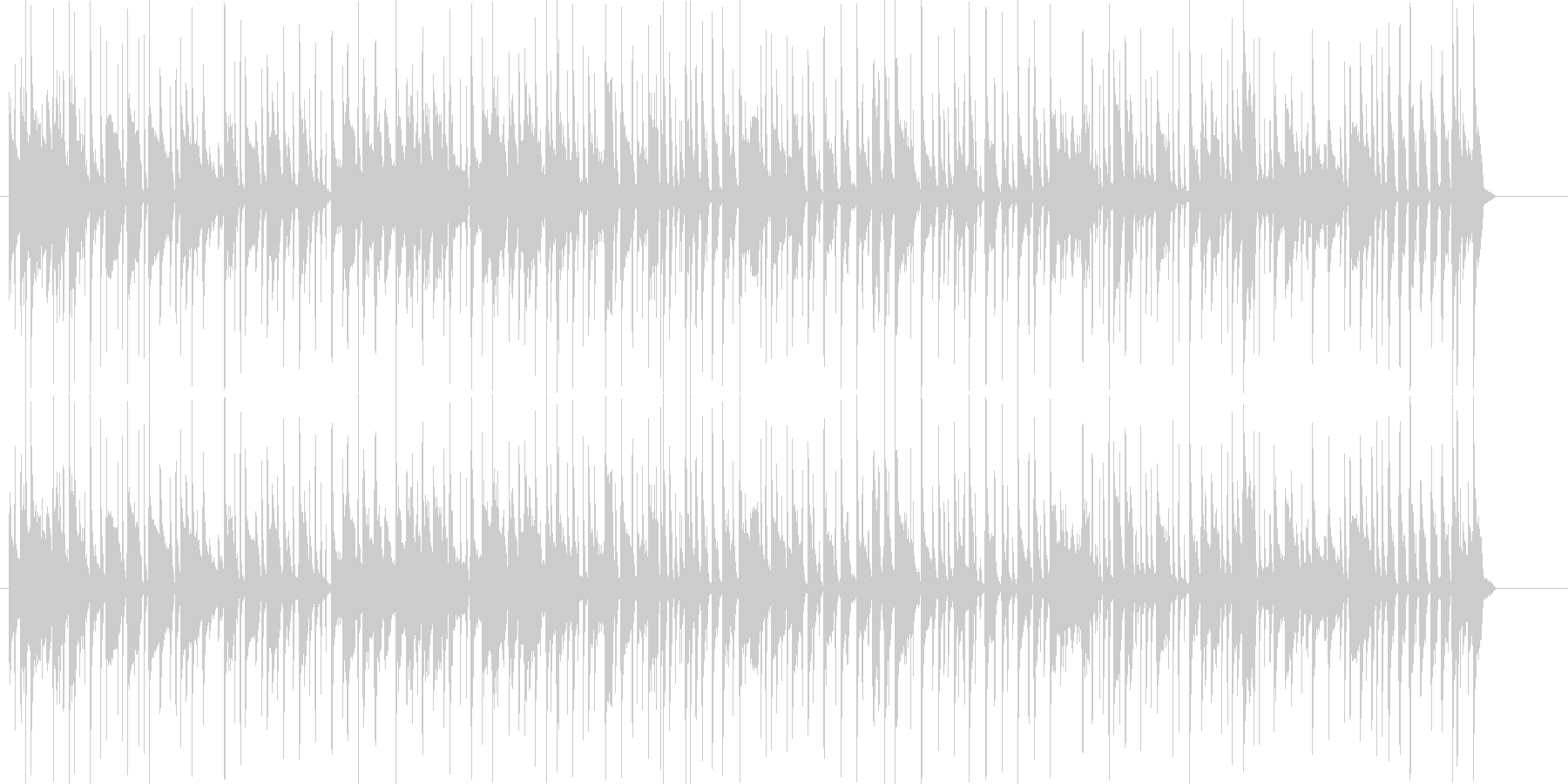 CMなどに最適なスラップベースの未再生の波形