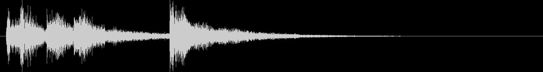 和風クリック音ゲームオーバージングルの未再生の波形