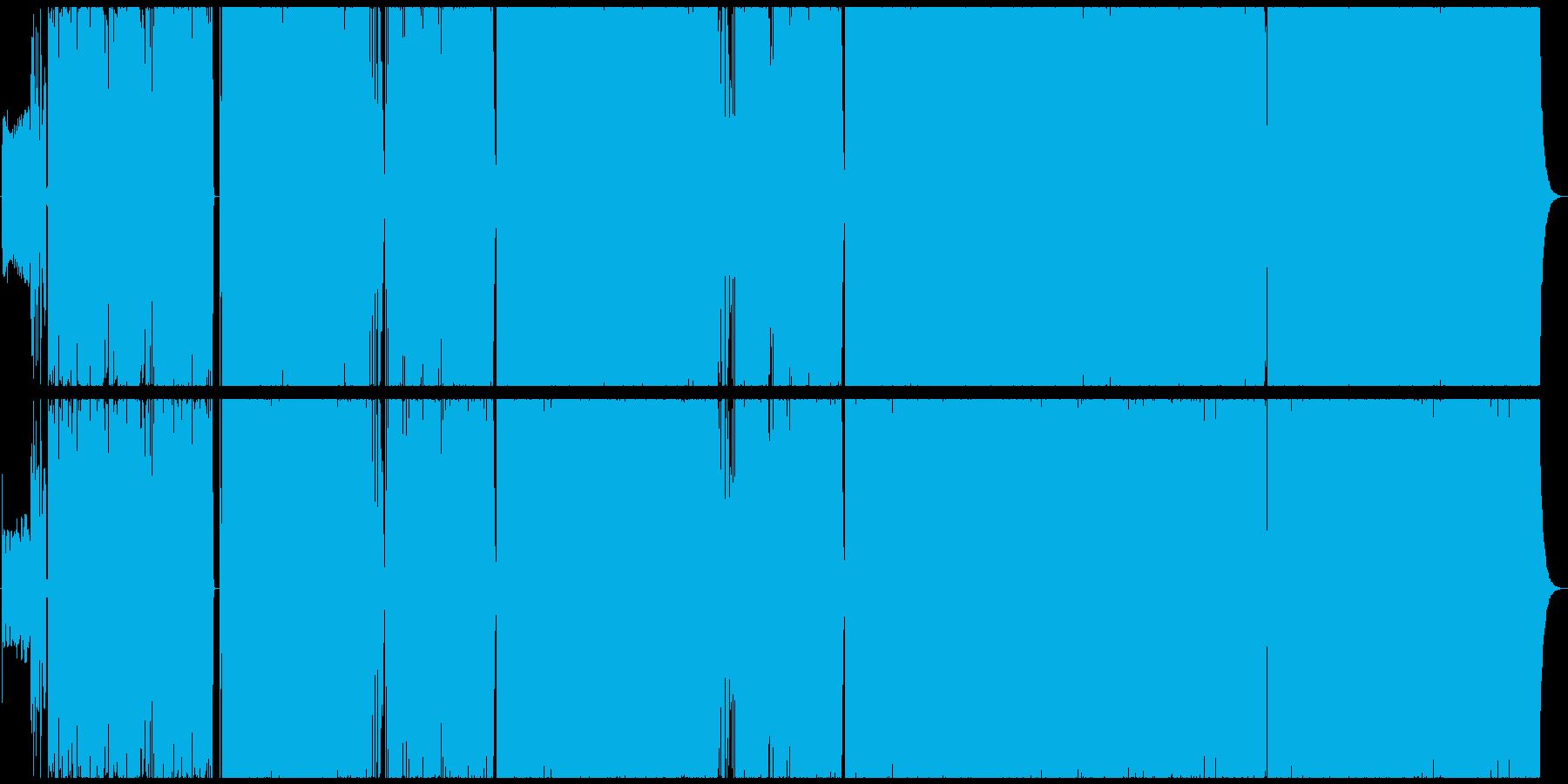 全編英詩のノリノリなサイバーポップロックの再生済みの波形