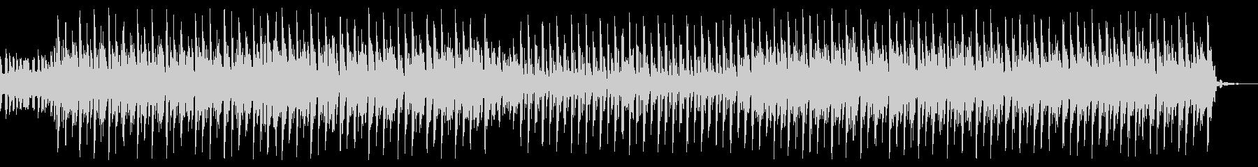 明るいテクノサウンドの未再生の波形