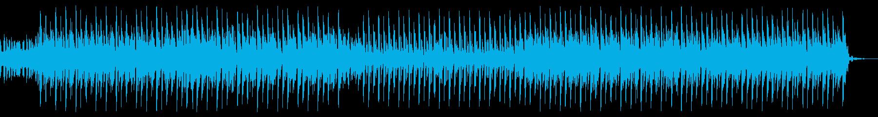 明るいテクノサウンドの再生済みの波形