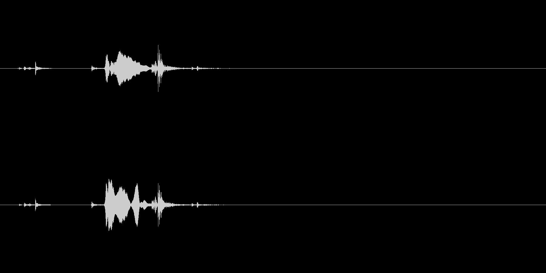 カチャ(鍵が開く音)ガチャの未再生の波形