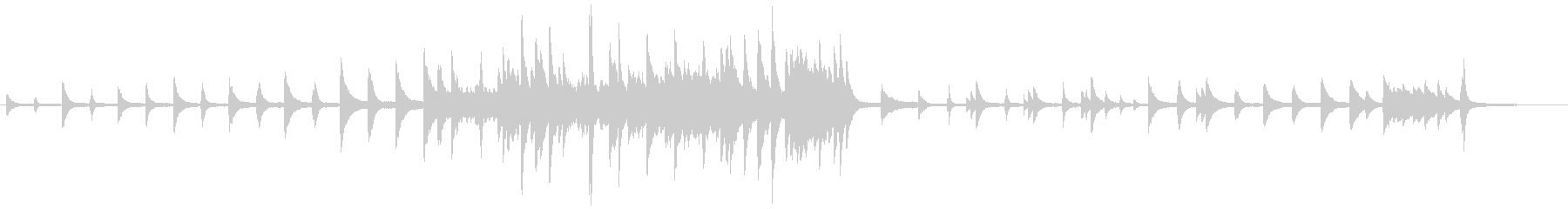 癒される、温かみのあるピアノソロの未再生の波形