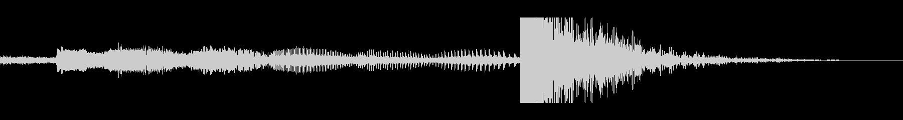 熱シーキングレーザーキャノンの未再生の波形