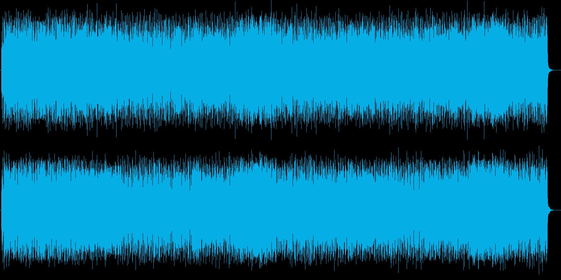 激しく勢いあるギターによるロックの再生済みの波形
