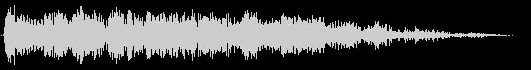 長い爆発的なサンダーランブルスイープ1の未再生の波形