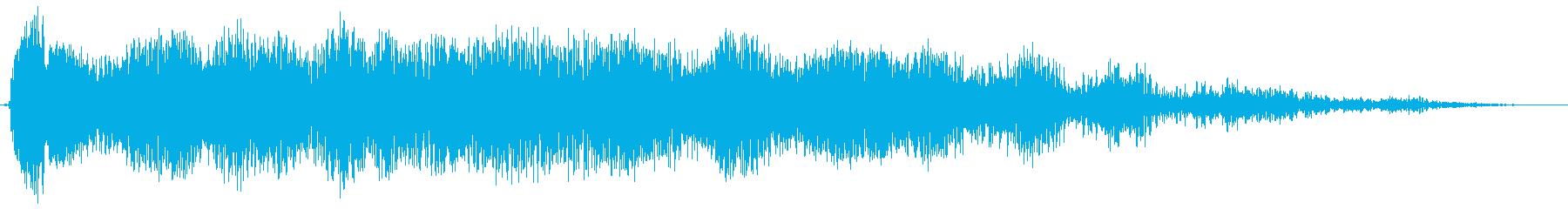 長い爆発的なサンダーランブルスイープ1の再生済みの波形