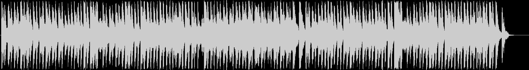 明るくポップでウキウキなアップテンポの音の未再生の波形