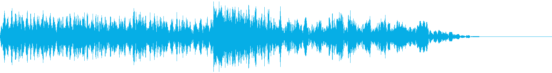 ギューン:テープストップの音(長)の再生済みの波形