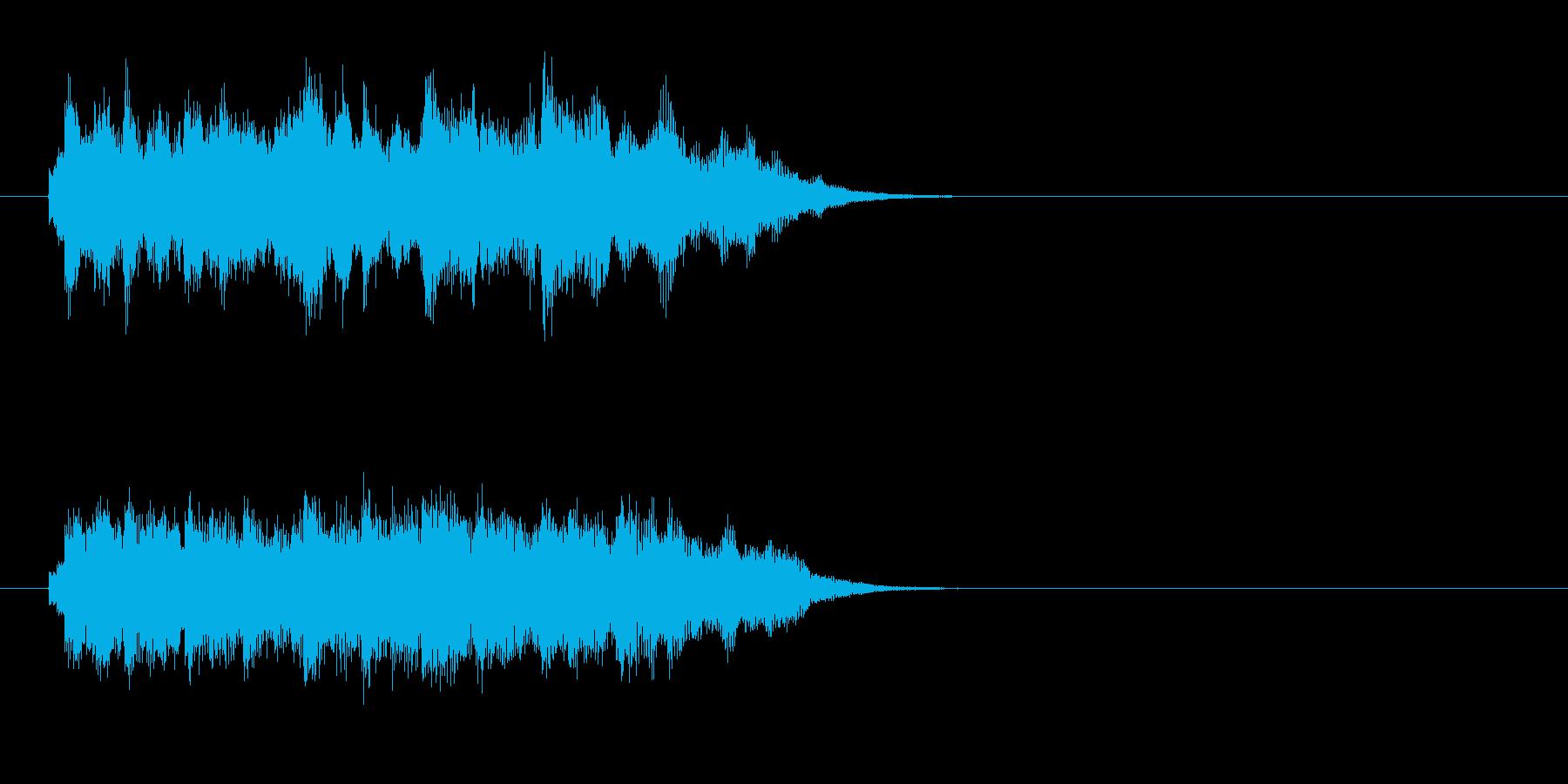ジングル(後味のやわらかい場面転換)の再生済みの波形