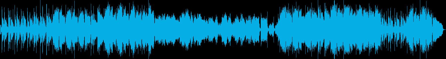切ないアコギとヴァイオリンの曲の再生済みの波形