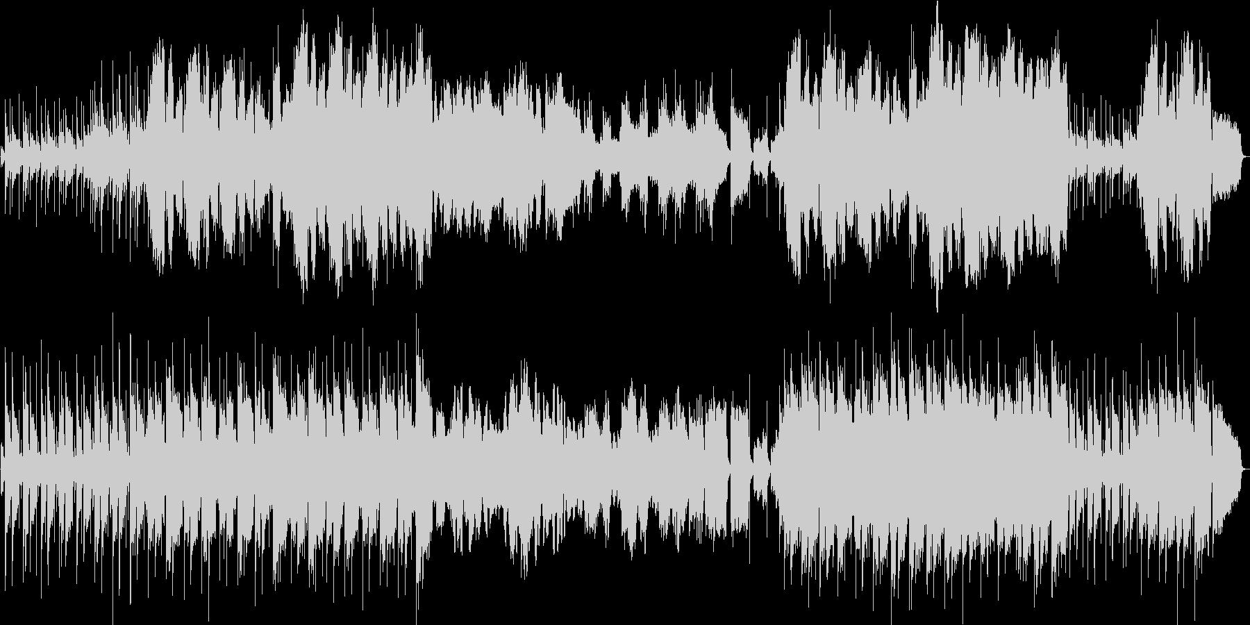 切ないアコギとヴァイオリンの曲の未再生の波形
