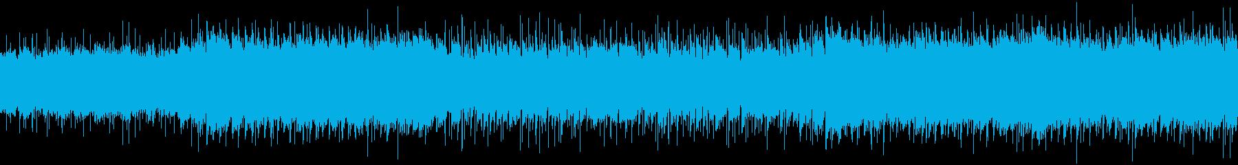 陽気な生演奏ブルースの再生済みの波形