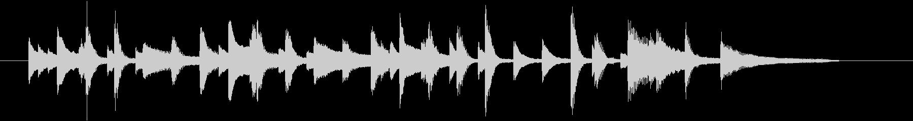 ピアノの明るく軽快なジングル002の未再生の波形