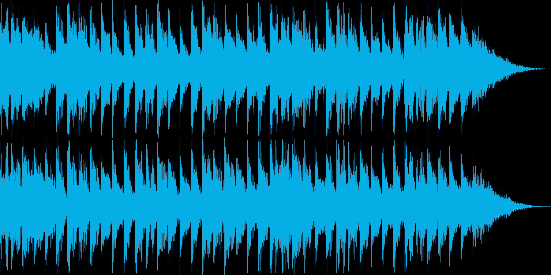 可愛くてドキドキするインストポップBGMの再生済みの波形