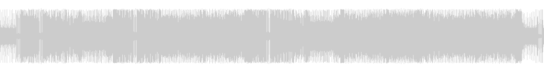 アクション向きなチップチューンサウンドの未再生の波形