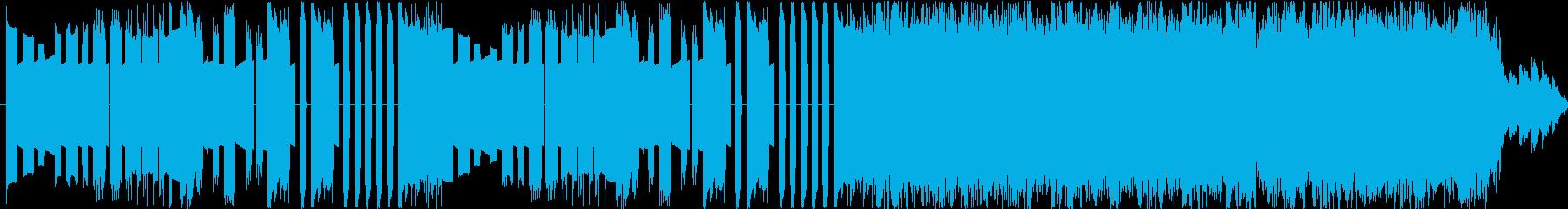ループ可能なレトロゲーム風バトルBGMの再生済みの波形