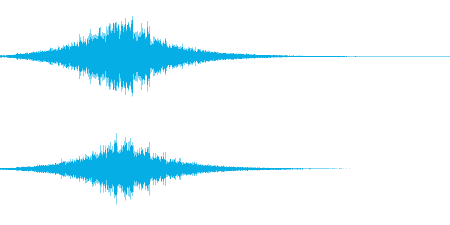 リバース系の再生済みの波形