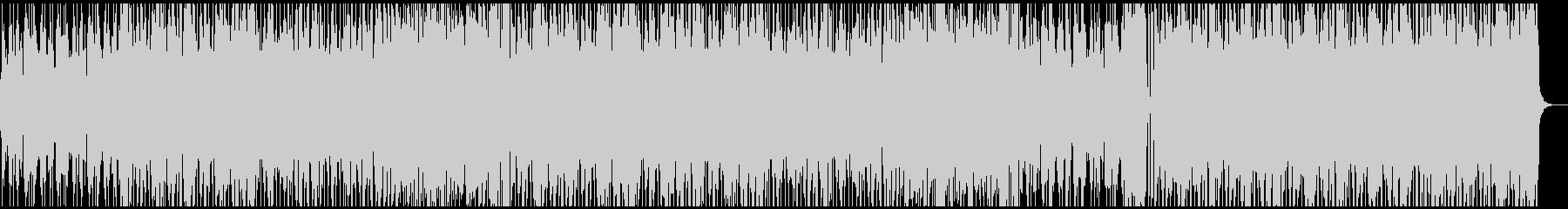 80年代テイスト目一杯なファンキーBGMの未再生の波形