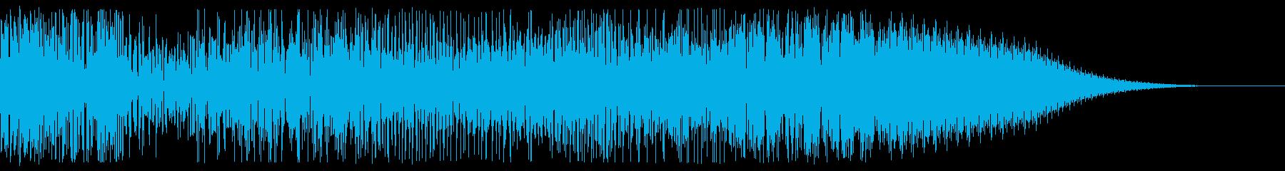 爆発前に一度空気が収束する音の再生済みの波形