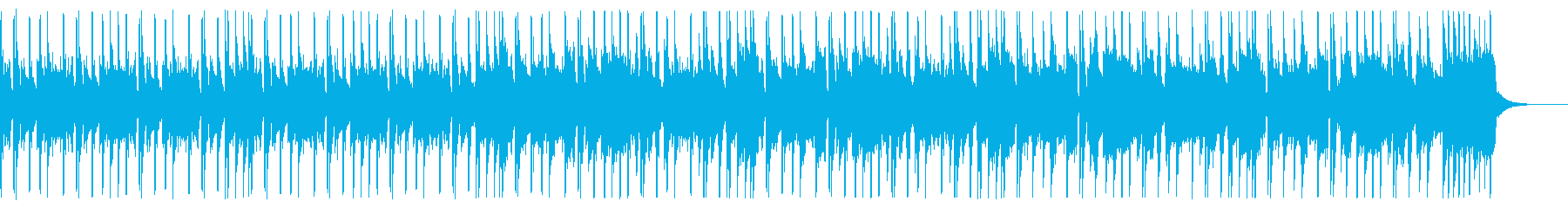 ベース&ブラスのファンクBGMの再生済みの波形