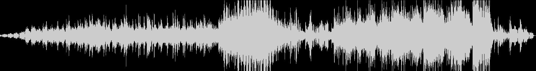 ピアノのエレクトロニカの未再生の波形