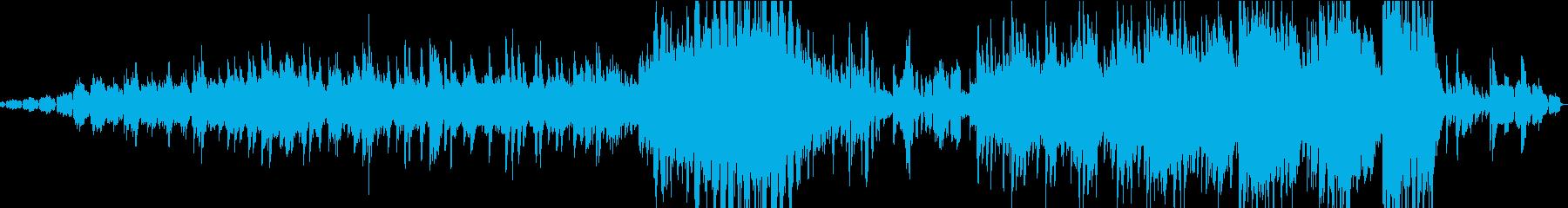 ピアノのエレクトロニカの再生済みの波形