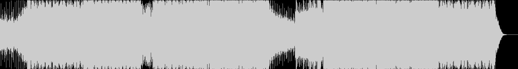 アグレッシブで疾走感のある戦闘曲の未再生の波形