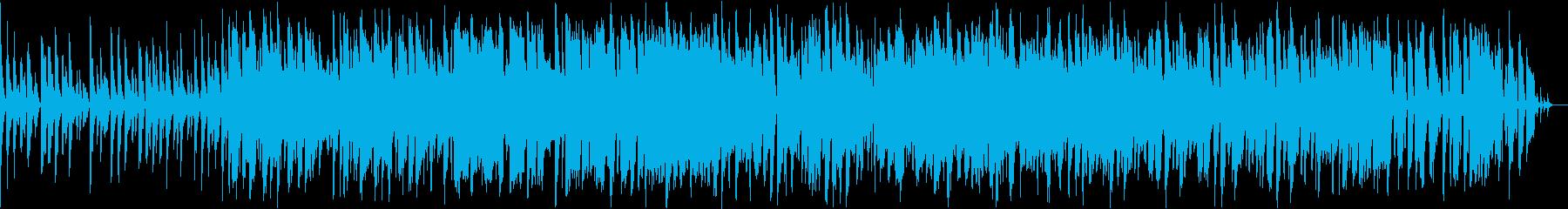 ファンキーでお洒落なジャズファンクBGMの再生済みの波形