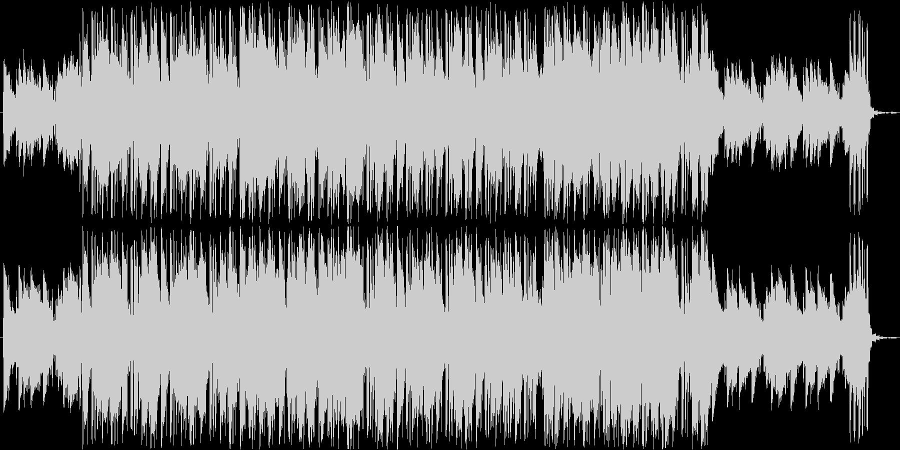 まったりとした浮遊感のあるLoFi曲の未再生の波形