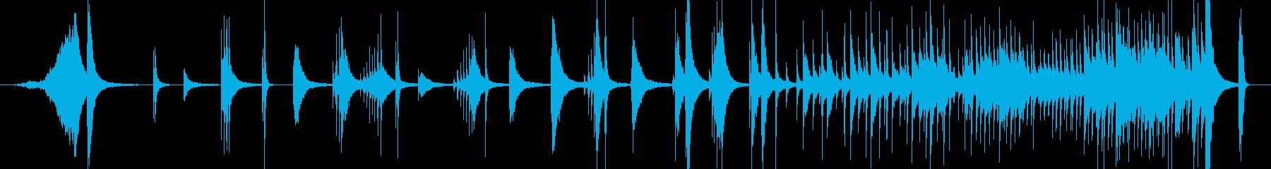シンバル11大太鼓激しい合戦戦い戦闘打ちの再生済みの波形