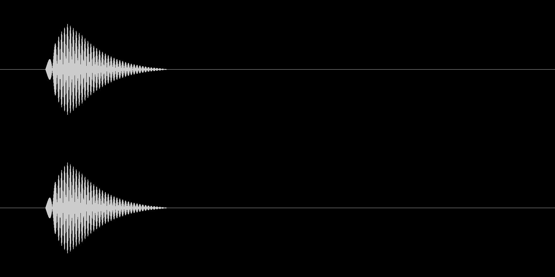 コポッ(栓を抜く音)の未再生の波形