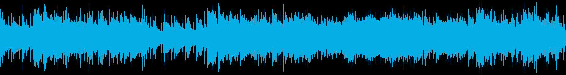 中華風のヒーリング・ループの再生済みの波形