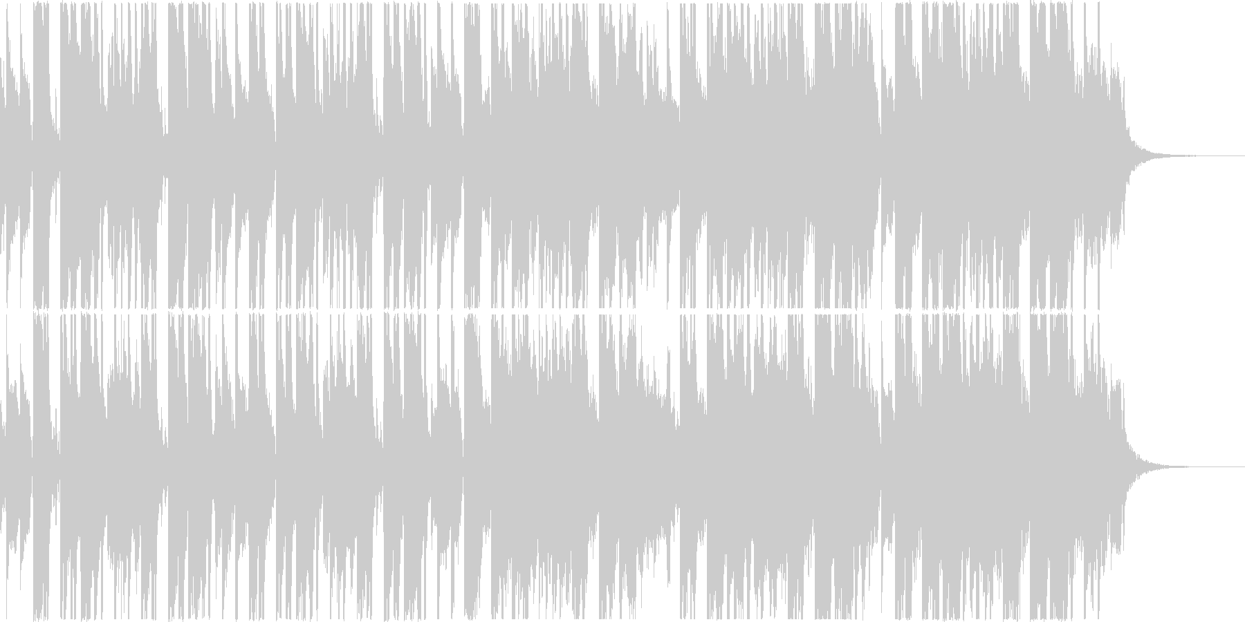 トロピカルなEDM風の曲、映像やCM等にの未再生の波形