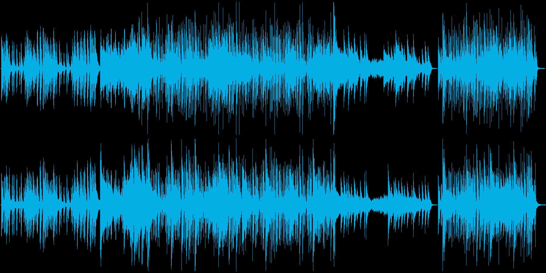 アコギとピアノによる夏を感じさせる曲の再生済みの波形
