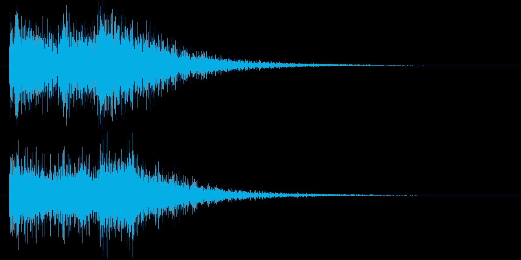 クイズ出題音(デデデン!)の再生済みの波形