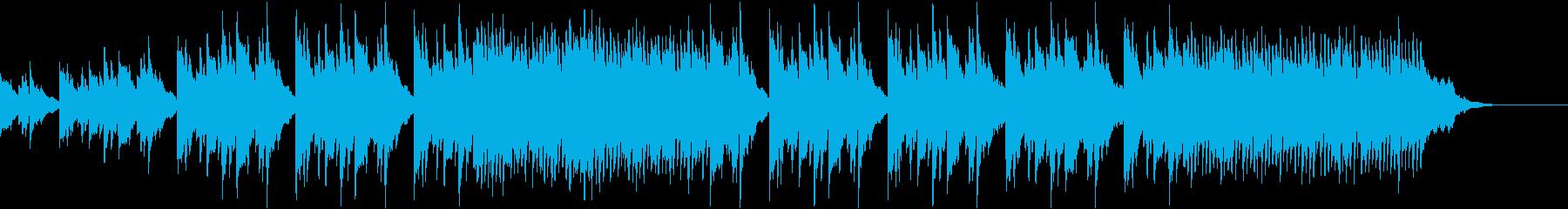 弦楽器とフルートのピアノ音楽。 刺激的での再生済みの波形