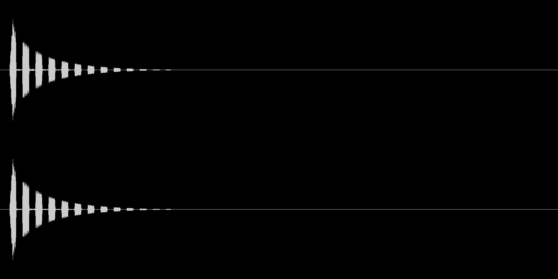 小さな流れ星(キラキラ↑)の未再生の波形