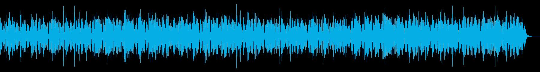 ほのぼのとした可愛いアコースティック曲の再生済みの波形
