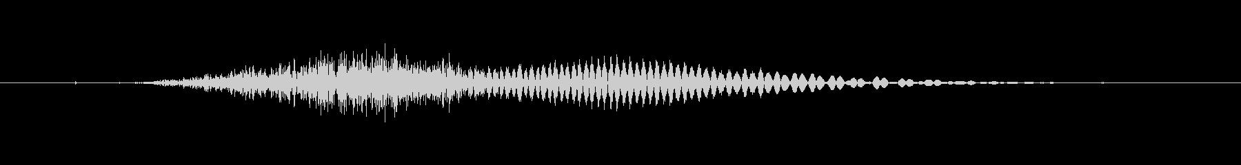 チーの未再生の波形