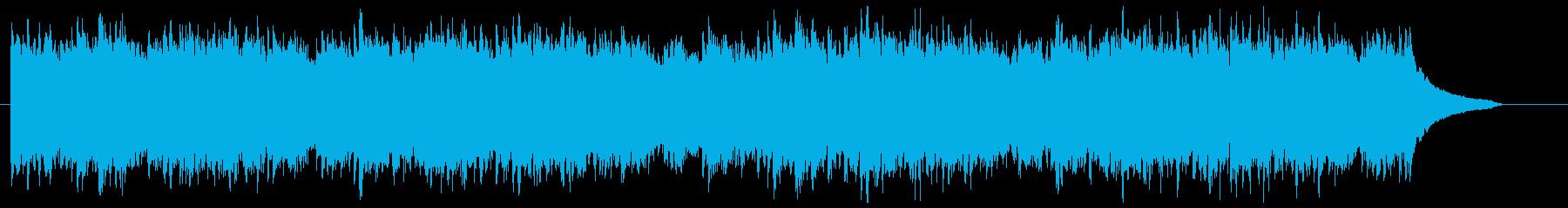 爽やかなCM動画向けピアノBGMの再生済みの波形