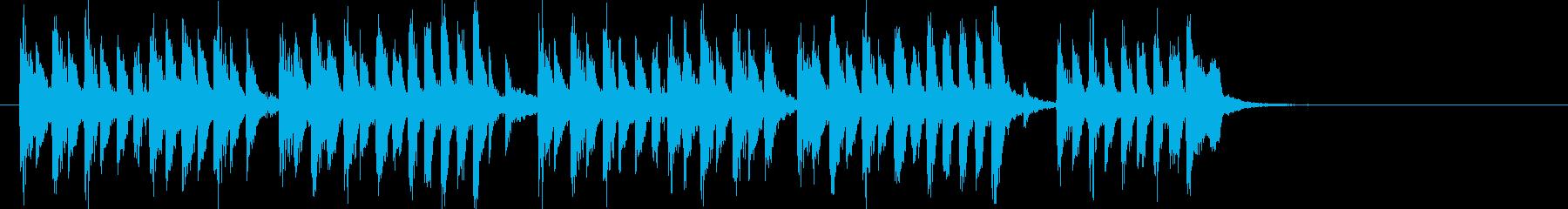 キッチュで可愛い印象のアップテンポの曲の再生済みの波形