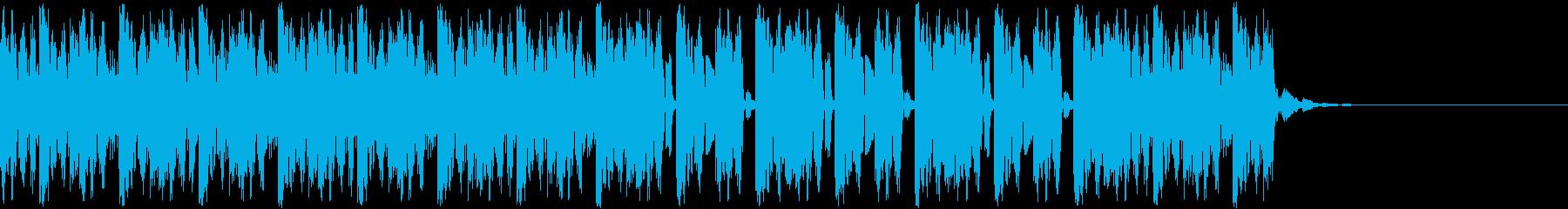 デジタル、CG、SFX等の映像ショート⑬の再生済みの波形